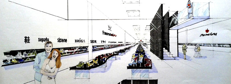 Arredamento per grandi marche e grandi superfici studio for Grandi magazzini arredamento